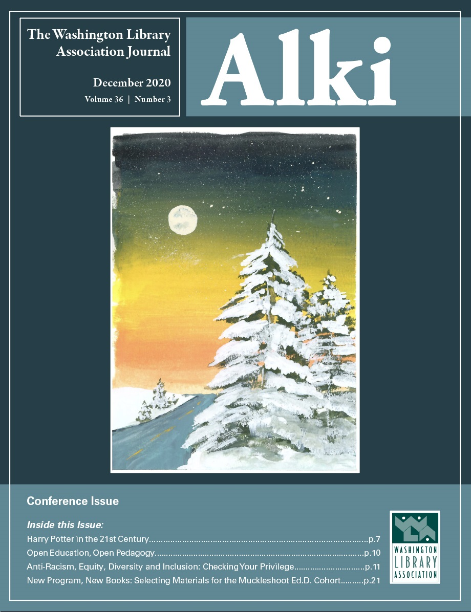 December 2020 Cover of Alki: The Conference Issue