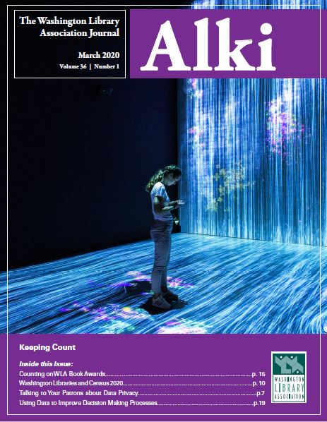Fall 2019 Cover of Alki: Equity, Diversity and Inclusion in Libraries