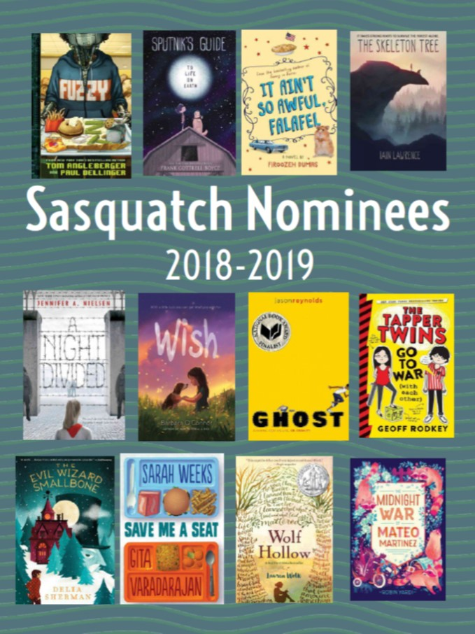 image of book covers of the current nominees